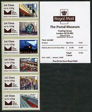 ! NUOVO! Museo Postale bpma striscia di 6x1st classe posta per ferrovia Post & Go