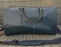 Ted Baker Navy Blue Medium Size Flight Holdall Travel Bag And Shoulder Strap New