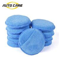 "Autocare 10pcs 5"" Microfiber Foam Sponge Applicator Pads Car Polish Wax Cleaner"