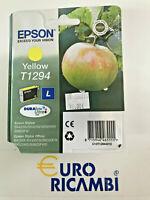 Cartuccia EPSON T1294 MELA GIALLO ORIGINALE C13T12944010 Fattura & Scontrino