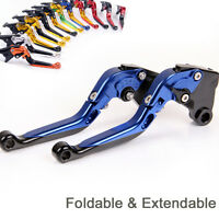For Yamaha YZF-R125/125R 2013/2014/2015 Folding&Extend Brake Clutch Levers Blue