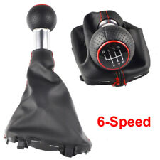 6 Speed Gear Shift Knob Stick Gaiter Boot Cover Frame Kit For Audi A3 2000-2003