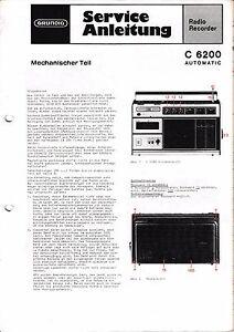 Service Manual-Anleitung für Grundig C 6200 Automatic