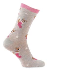 totes toasties Ladies Novelty Sock In Bauble Fox
