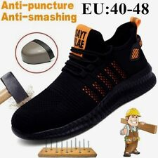 2020 Men's Steel Toe Work Shoes Comfortable and Breathable Safety Boots Hiking