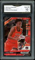 2020 Prizm Draft Picks Red Ice #4 Isaac Okoro RC GMA 10 COMP TO PSA BGS