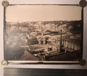 Vintage Victorian sepia albumen photo print 1870's Genova Italy Italian Wall Art