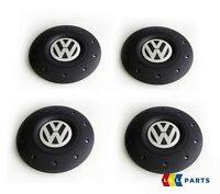 NEW GENUINE VW AMAROK 10-16 TRANSPORTER 03-16 4 PCS ALLOY WHEEL CENTER CAP SET