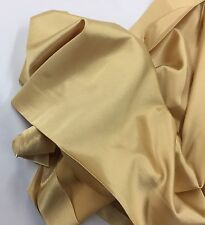 Gold 60 inch 2 Way Stretch Charmeuse Satin-super Soft Silky Satin-by The Yard.