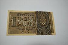 1 kuna 1942 Croatia banknote