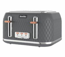 Breville Curve VTT912 4-Slice Toaster in Granit Gray with Wide Slots & High Lift