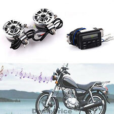 Audio FM Radio MP3 Stereo Speakers Sound System Motorcycle Bike for Honda Suzuki