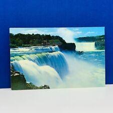 Postcard vintage post card ephemera Niagara Falls Canada horseshoe american usa