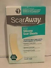 "Scaraway Flex Long Silicone Scar Sheets, 1.5"" x 7"" - 6 counts"