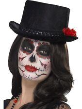 femmes JOUR DES MORTS CHAPEAU HAUT-DE-FORME squelette Halloween Tête de calavera