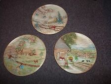 BYRON MOLDS 1980 wall plate's 3 in set