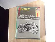 Renault 5 1972 to 1975 L & TL, 845 & 956 Haynes Owners Workshop Manual