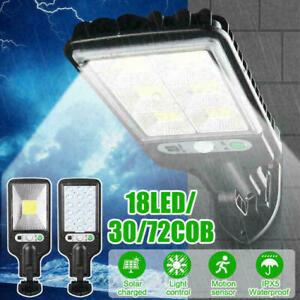 600W LED-Solar Wall-Light Motion-Outdoor-Garden Security-Street-Lamp IP65 155mm