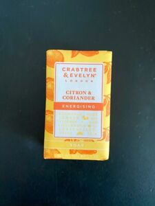 BRAND NEW! Crabtree & Evelyn CITRON & CORIANDER - Energising Bar Soap 5.5oz