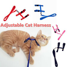 Cat -Rabbit-Kitten Adjustable Harness & Lead Pink  Adjustable Nylon Pet Cat