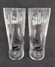 Two Stunning M18 Edition CARLING Lager Beer Pint Glasses  NEW - Home Bar - Pub