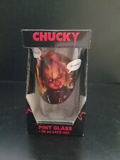 CHUCKY Childs Play 16 Oz. Pint Drinking Glass Tumbler New **FREE SHIPPING**