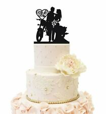 Motorcycle Wedding Cake Topper Anniversary Wedding Party Decorations Gifts