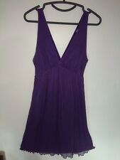 Chiffon dress by Zara Purple Size L Used once Good condition