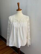 Women's Hollister off-white long sleeve top size medium