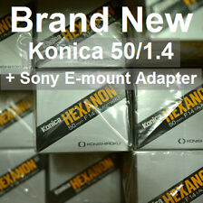 NEW!!! Konica Hexanon AR 50mm F1.4 1.4 (+ Adapter for Sony A7 A7R A7S A9 II III)