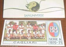 FIGURINA STICKER ALBUM CALCIATORI 1970/71-SQUADRA CAGLIARI CAMPIONI D'ITALIA 70