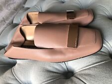 Sergio rossi plaque Nude Loafers Size 38