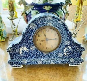 Antique Villeroy and Boch Porcelain Clock-Cond. Not Working