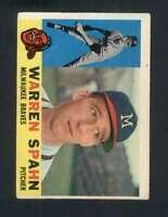 1960 Topps #445 Warren Spahn EX/EX+ Braves 123006
