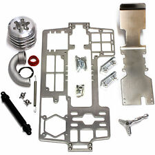Hardcore Silver Titanium .21 Chassis Kit for Traxxas E-Maxx T-Maxx (With Head)
