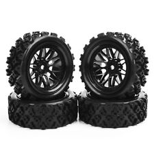 4Pcs HSP HPI Racing 1/10 RC Rally Off Road Rubber Tire Wheel Rim SET PP0487+BBNK