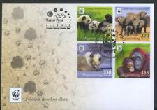 Hungary 2018 Wild Animals, Fauna, Elephants, Monkeys, WWF FDC