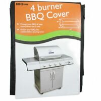 BBQ Vinyl Cover Protects Grill Outdoor Barbecue Cart Fits Most 4 Burners Storage