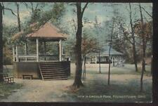 POSTCARD YOUNGSTOWN OHIO Lincoln Park Bandstand Gazebo Open Air Pavillion 1907
