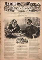 1871 Harpers Weekly May 27-Divorce lawyer; KKK;Communist wounded in Paris;Irving