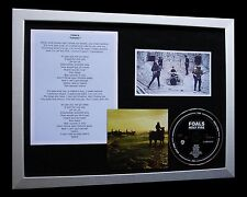 FOALS Inhaler LIMITED CD TOP QUALITY MUSIC FRAMED DISPLAY+EXPRESS GLOBAL SHIP!!