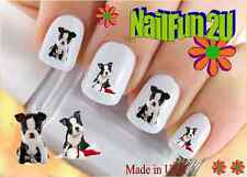 "Nail Art #114 DOG BREED ""Boston Terrier Puppy"" WaterSlide Nail Decals Transfer"