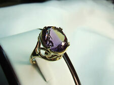9 carat yellow gold handmade ametrine gemstone ring