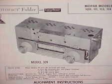 1961 PLYMOUTH FURY CONVERTIBLE VALIANT DODGE LANCER AM RADIO SERVICE MANUAL 1