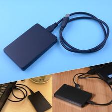 Festplattengehäuse 2,5'' extern Aluminium USB 3.0 HighSpeed SATA HDD schwarz Aug
