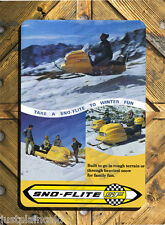 Sno-Flite snowmobile vintage brochure wall sign reproduction