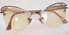 Vintage ShuRon 12KGF Eyeglass Cateye Frames 4 - 5 1/4