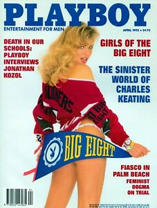 April 1992 PLAYBOY Magazine CADY CANTRELL,GIRLS OF THE BIG 8. Excellent