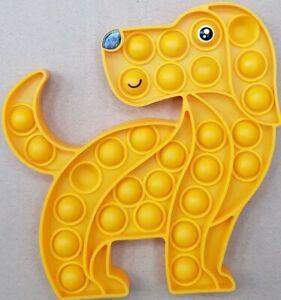 Puppy Dog Push it Bubble Pop Fidget Sensory Toy ADHD Stress Reliever Toys