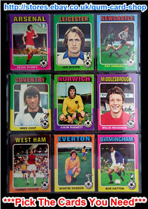 TOPPS 1975 RED/GREY FOOTBALLERS (CARDS 87 TO 168) (G/F) *PLEASE CHOOSE CARD*